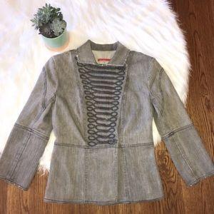 Alice + Olivia Women's Size XS Jacket Gray Denim